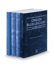 Oregon Rules of Court - State, Federal, Federal KeyRules and Local, 2017 ed. (Vols. I-III, Oregon Court Rules)