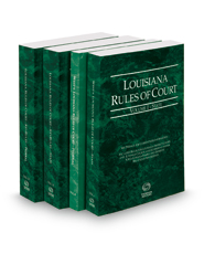 Louisiana Rules of Court -  State, State KeyRules, Federal and Federal KeyRules, 2016 ed. (Vols. I-IIA, Louisiana Court Rules)