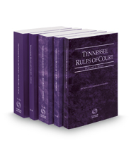 Tennessee Rules of Court - State, Federal, Federal KeyRules, Local and Local KeyRules, 2016 ed. (Vols. I-IIIA, Tennessee Court Rules)