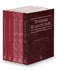 Tennessee Rules of Court - State, Federal, Federal KeyRules, Local and Local KeyRules, 2021 ed. (Vols. I-IIIA, Tennessee Court Rules)