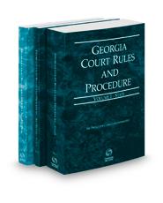Georgia Court Rules and Procedure - State, State KeyRule and Federal, 2021 ed. (Vols. I-II, Georgia Court Rules)