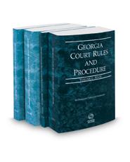 Georgia Court Rules and Procedure - State, State KeyRules, Federal and Federal KeyRules, 2017 ed. (Vols. I-IIA, Georgia Court Rules)