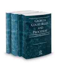 Georgia Court Rules and Procedure - State, State KeyRules, Federal and Federal KeyRules, 2020 ed. (Vols. I-IIA, Georgia Court Rules)