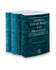 Georgia Court Rules and Procedure - State, State KeyRule, Federal and Federal KeyRules, 2021 ed. (Vols. I-IIA, Georgia Court Rules)