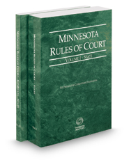 Minnesota Rules of Court - State and State KeyRules, 2017 ed. (Vols. I-IA, Minnesota Court Rules)