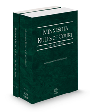 Minnesota Rules of Court - State and State KeyRules, 2021 ed. (Vols. I-IA, Minnesota Court Rules)
