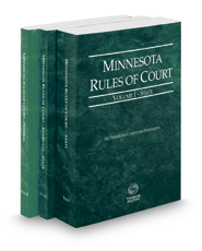 Minnesota Rules of Court - State, State KeyRules and Federal, 2017 ed. (Vols. I-II, Minnesota Court Rules)