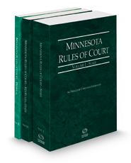 Minnesota Rules of Court - State, State KeyRules and Federal, 2021 ed. (Vols. I-II, Minnesota Court Rules)