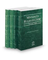 Minnesota Rules of Court - State, State KeyRules, Federal and Federal KeyRules, 2017 ed. (Vols. I-IIA, Minnesota Court Rules)
