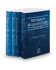 Minnesota Rules of Court - State, State KeyRules, Federal and Federal KeyRules, 2018 ed. (Vols. I-IIA, Minnesota Court Rules)