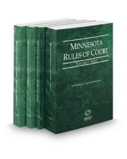 Minnesota Rules of Court - State, State KeyRules, Federal and Federal KeyRules, 2020 ed. (Vols. I-IIA, Minnesota Court Rules)
