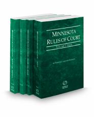 Minnesota Rules of Court - State, State KeyRules, Federal and Federal KeyRules, 2021 ed. (Vols. I-IIA, Minnesota Court Rules)