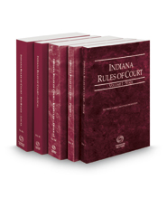 Indiana Rules of Court - State, Federal, Federal KeyRules, Local and Local KeyRules, 2021 ed. (Vols. I-IIIA, Indiana Court Rules)