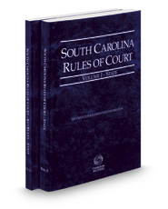 South Carolina Rules of Court - State and State KeyRules, 2017 ed. (Vols. I-IA, South Carolina Court Rules)