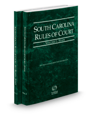 South Carolina Rules of Court - State and State KeyRules, 2018 ed. (Vols. I-IA, South Carolina Court Rules)