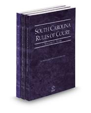 South Carolina Rules of Court - State, State KeyRules and Federal, 2021 ed. (Vols. I-II, South Carolina Court Rules)