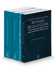 Kentucky Rules of Court - State, Federal, Local and Local KeyRules, 2021 ed. (Vols. I-IIIA, Kentucky Court Rules)
