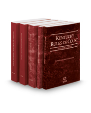 Kentucky Rules of Court -  State, Federal, Federal KeyRules, Local and Local KeyRules, 2018 ed. (Vols. I-IIIA, Kentucky Court Rules)