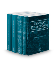 Kentucky Rules of Court -  State, Federal, Federal KeyRules, Local and Local KeyRules, 2021 ed. (Vols. I-IIIA, Kentucky Court Rules)