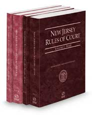 New Jersey Rules of Court - State, State KeyRules, Federal and Federal KeyRules, 2022 ed. (Vols. I-IIA, New Jersey Court Rules)