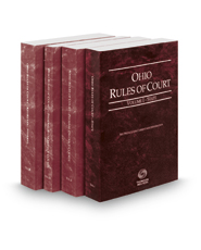 Ohio Rules of Court - State, Federal District, Federal Bankruptcy and Federal KeyRules, 2018 ed. (Vols. I-IIB, Ohio Court Rules)