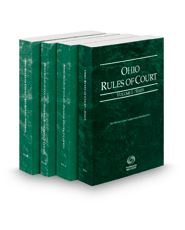 Ohio Rules of Court - State, Federal District, Federal Bankruptcy and Federal KeyRules, 2019 ed. (Vols. I-IIB, Ohio Court Rules)
