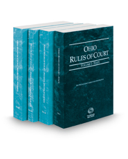Ohio Rules of Court - State, Federal District, Federal Bankruptcy and Federal KeyRules, 2021 ed. (Vols. I-IIB, Ohio Court Rules)