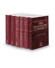 Ohio Rules of Court - State, Federal District, Federal Bankruptcy, Local and Local KeyRules, 2018 ed. (Vols. I-IIA and III-IIIA, Ohio Court Rules)