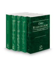 Ohio Rules of Court - State, Federal District, Federal Bankruptcy, Federal KeyRules and Local, 2019 ed. (Vols. I-IIB and III, Ohio Court Rules)
