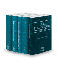 Ohio Rules of Court - State, Federal District, Federal Bankruptcy, Federal KeyRules and Local, 2021 ed. (Vols. I-IIB and III, Ohio Court Rules)