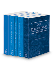 Ohio Rules of Court - State, Federal District, Federal Bankruptcy, Federal KeyRules and Local, 2022 ed. (Vols. I-IIB and III, Ohio Court Rules)
