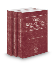 Ohio Rules of Court - Federal District, Federal Bankruptcy and Federal KeyRules, 2018 ed. (Vols. II-IIB, Ohio Court Rules)