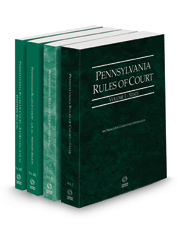 Pennsylvania Rules of Court - State, Federal, Local Western and Local Western KeyRules, 2021 ed. (Vols. I, II, IIIE & IIIF, Pennsylvania Court Rules)