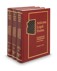 Commercial Transactions, 2d (Vols. 5-6A, Arizona Legal Forms)