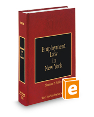 Employment Law in New York, 2d (Vol. 13A, New York Practice Series)