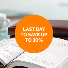 Last day to save up to 30%