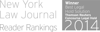 New York Law Journal: top-ranked Legal Hold Solution