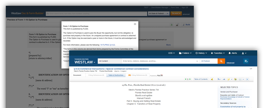 Add Westlaw links to your forms on Form Builder