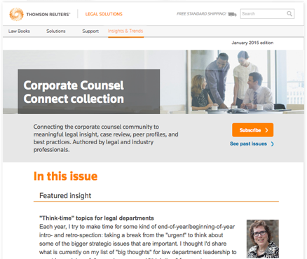 News and Views: Corporate Counsel Connect