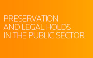 Preservation and Legal Holds in the Public Sector