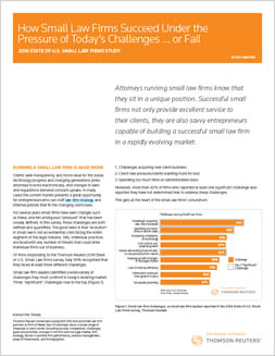 State of U.S. Small Law Firms Study Report