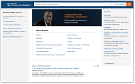 Practical Law Connect for Corporate Counsel Screen Shot