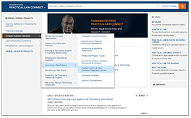 Practical Law Connect for Corporate Counsel Projects