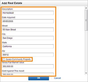 Edit Real Estate screenshot