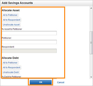 Edit – saving account 2 screenshot
