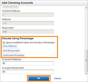 Assets- Edit Checking Account 2 screenshot
