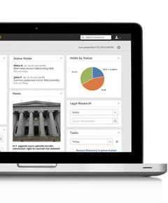 Concourse matter management software screenshot