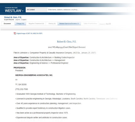 Westlaw expert search