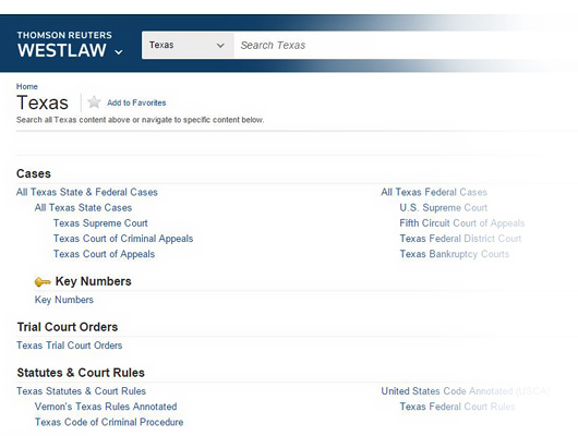 Westlaw State primary law