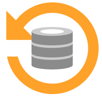 Nearly continuous server uptime and backup - icon